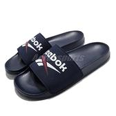 Reebok 拖鞋 Fulgere Slide 藍 白 Logo 運動拖鞋 男鞋 【ACS】 FZ0946