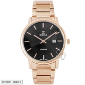 【台南 時代鐘錶 SIGMA】簡約時尚 藍寶石鏡面時尚腕錶 1122M-R1 黑/玫瑰金 39mm 平價實惠的好選擇