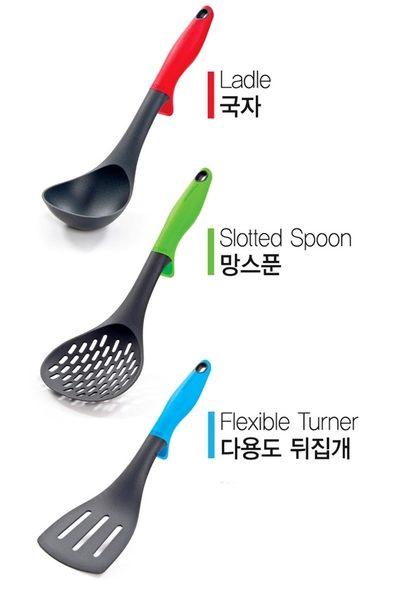 [霜兔小舖]CHEF TOPF 玫瑰鍋鍋具專用~SOREL 不沾鍋專用 矽膠 鍋鏟 湯勺 3件組