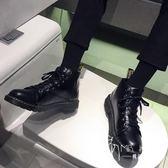 马丁靴  皮鞋 2018新款馬丁靴男中幫韓版潮流秋季男鞋百搭學生英倫風高幫皮鞋男