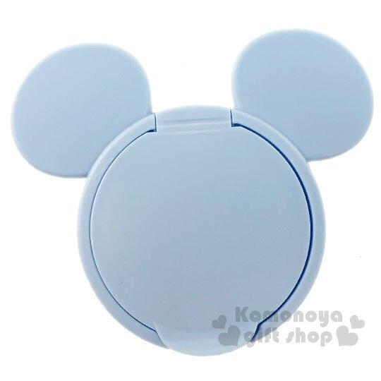 〔小禮堂〕迪士尼 米奇 日製大臉造型塑膠濕紙巾蓋《藍》濕巾盒蓋.密封蓋 4904121-30948