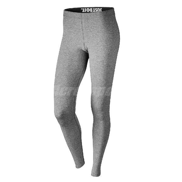 Nike 緊身褲 Leg-A-See Logo Legging 灰 黑 女款 內搭褲 慢跑 健身 訓練 束褲 【PUMP306】 806928-092