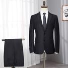 西裝   男士西服套裝修身職業商務正裝小西裝伴郎團禮服