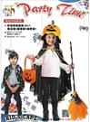 花燕尾巫婆披風+南瓜帽+糖果袋+掃把 兒童變裝 萬聖節服裝 角色扮演服裝 南瓜披風