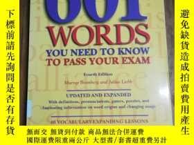 二手書博民逛書店601罕見Words You Need to Know to P
