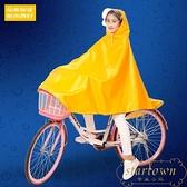 自行車防水雨衣成人騎行單車厚山地車雨披有雙帽檐【繁星小鎮】