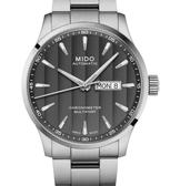 MIDO美度錶Multifort Chronometer天文台自動機械錶(M0384311603100)灰面/鋼帶/42mm