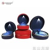 首飾收納盒68折 高檔求婚戒指盒創意婚禮鉆戒盒帶LED燈項鏈禮物盒子珠寶首飾盒 自由角落
