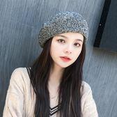 【新年鉅惠】帽子女秋冬季韓版日系百搭貝雷帽甜美可愛簡約休閒復古英倫畫