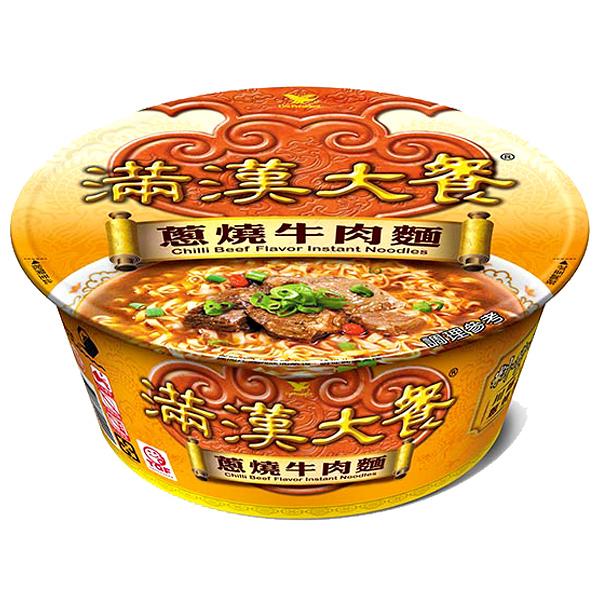 統一 滿漢大餐 蔥燒牛肉麵 192g【康鄰超市】