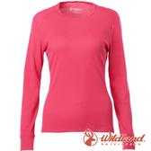 【wildland 荒野】女 Highest彈性圓領保暖衣『桃紅』H2663 戶外 休閒 運動 冬季 保暖 禦寒 內著