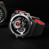 Mazzucato RIM 鷗翼式翻轉超跑雙機械石英手錶-48mm RIM01-BK186