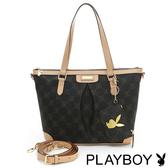 PLAYBOY- N- Natty 系列2WAY肩背包-咖啡色