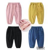 嬰兒童褲子4個月女寶寶春秋7女童秋裝1歲2加絨褲子