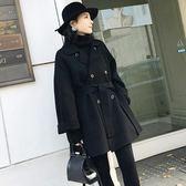 韓版中長款羊毛呢外套女秋冬新款赫本風小個子呢子大衣女 韓慕精品