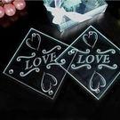 永恆的愛玻璃杯墊 (兩入裝) 婚禮小物 ...