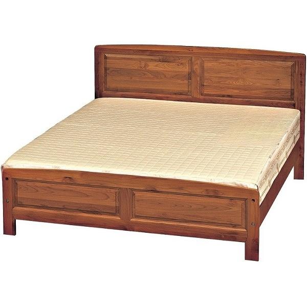 床架 床台 FB-570-3 樟木色5尺雙人床 (不含床墊) 【大眾家居舘】