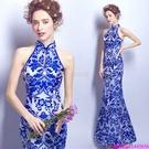 (45 Design)  客製化顏色尺寸領新娘長款婚紗晚宴年會演出主持人禮服14