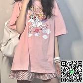 可愛短袖T恤元氣少女夏韓版潮BF學生寬松百搭半袖上衣服【小檸檬3C數碼館】