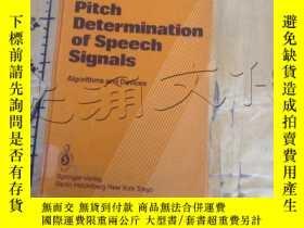 二手書博民逛書店Pitch罕見Determination of Speech S