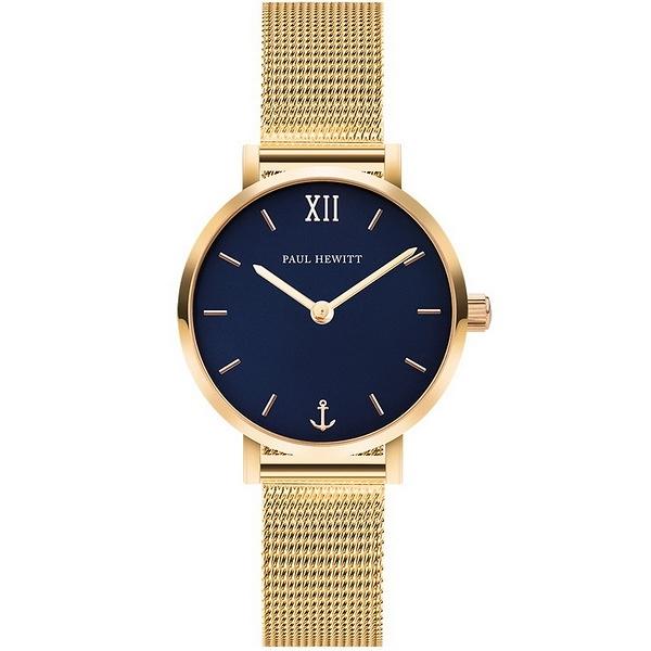 【台南 時代鐘錶 PAUL HEWITT】德國工藝 Sailor Line 簡約風格腕錶 小款 PH-SA-G-XS-B-45S
