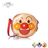 兒童斜背包-日本麵包超人 亮面顏型收納包(背帶可調)-麵包超人-玄衣美舖