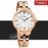 TIMEX 天美時 / TXTW2R28000  美國指標典雅女伶甜蜜綻放不鏽鋼手錶 鍍玫瑰金 36mm
