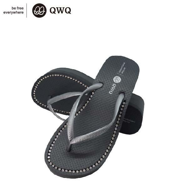 QWQ創意鞋-6CM 尊榮灰 夾腳人字拖鞋(厚底系列)