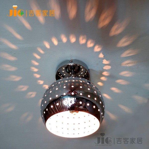 [吉客家居] 吸頂燈 - DISCO 圓球  金屬時尚造型現代簡約北歐餐廳吧檯玄關走道梯間民宿咖啡館