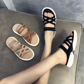 拖鞋女夏外穿時尚新款韓版百搭平底厚底兩穿運動涼拖 生活主義