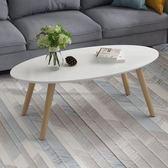 茶幾客廳小戶型簡約實木長方形茶桌創意烤漆白色矮桌邊桌北歐茶幾【快速出貨】