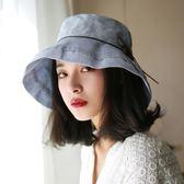 遮陽帽女防紫外線涼帽防曬百搭休閒帽子夏天漁夫帽戶外太陽帽遮臉