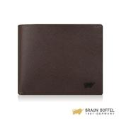 【南紡購物中心】【BRAUN BUFFEL】洛菲諾P系列4卡零錢袋皮夾 -咖黑 BF334-315-DM
