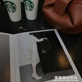 微鑲鋯石幾何小圓圈簡約迷你項?韓國劇鎖骨?女簡約生日禮物