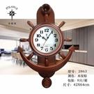 快速出貨北極星掛鐘舵手歐式搖擺個性家用創意鐘錶簡約客廳靜音家居 YJT