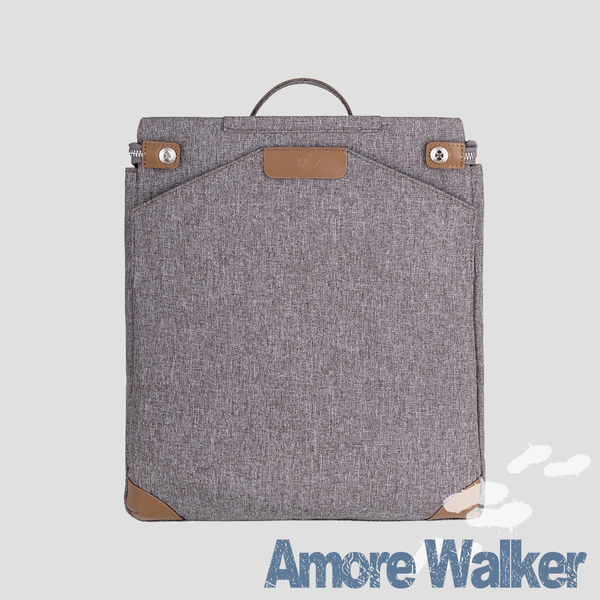 Amore沃克輕商旅職人二用後背包-灰駝