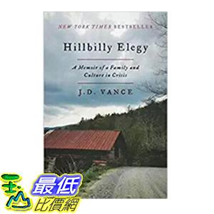 [106美國直購] 2017美國暢銷書 Hillbilly Elegy:A Memoir of a Family and Culture in Crisis