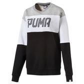 Puma 長袖 黑白灰 男款 長袖上衣 拼接 大學T 基本系列 運動上衣 衛衣 長袖 厚T恤 59292501