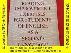 二手書博民逛書店READING罕見IMPROVEMENT EXERCISES FOR STUDENTS OF ENGLISH AS