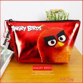 憤怒鳥 Angry Birds 正版閃亮鉛筆袋 化妝包 萬用收納包 B01786