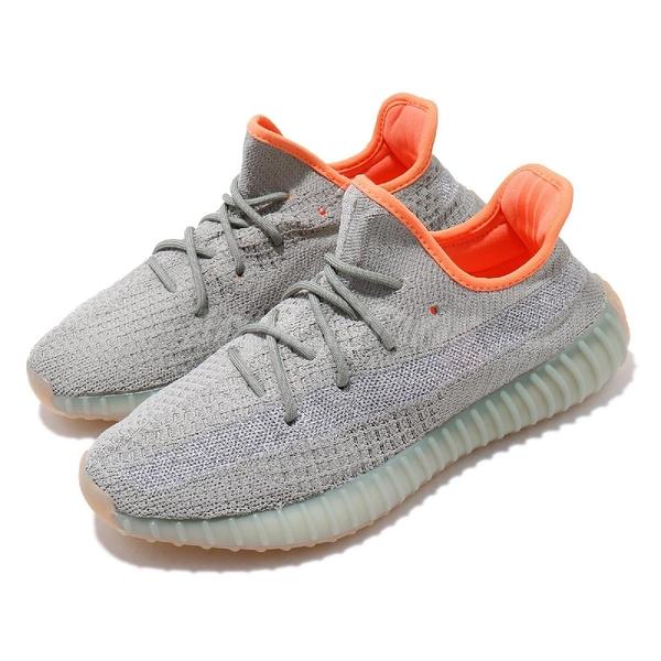 adidas 休閒鞋 Yeezy Boost 350 V2 Desert Sage 灰 綠 男鞋 女鞋 運動鞋 【PUMP306】 FX9035