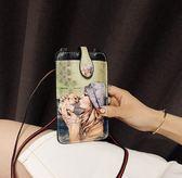 618好康又一發卡通可愛拉鏈手機包女單肩斜挎包正韓潮掛脖手機袋零錢包迷你小包