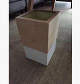 【原木色 啞白色】木製垃圾桶家用酒店日式木質桶