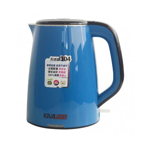 福利品【KRIA可利亞】全開口式雙層防燙304#不鏽鋼炫彩快煮壺