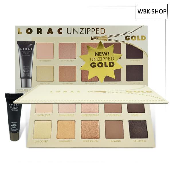 Lorac Unzipped Gold 10色眼影盤+眼部打底膏 5.5g Eye Shadow Palette+Behind - WBK SHOP