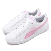 Puma 休閒鞋 Smash Wns V2 L 白 粉紅 皮格鞋面 女鞋 小白鞋 運動鞋 【PUMP306】 36520810