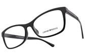 EMPORIO ARMANI 光學眼鏡 EA3128F 5017 (黑) 學院風知性款 # 金橘眼鏡