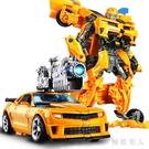 合金變形玩具金剛大黃蜂汽車機器人變身模型恐龍模型手辦正版男孩6歲禮物HX75【極致男人】
