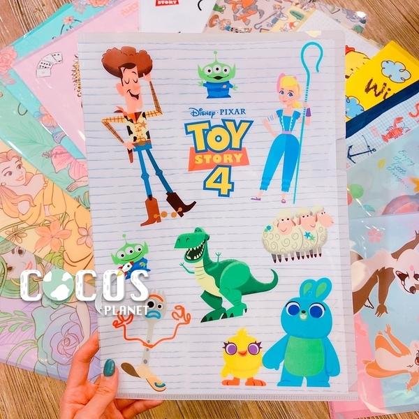 正版 迪士尼系列 玩具總動員4 胡迪叉奇抱抱龍 單層L夾 文件夾 收納夾 COCOS QQ049