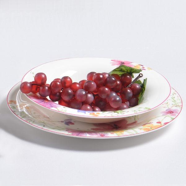 【德國唯寶 Villeroy & Boch】Mariefleur瑪莉芙蓉 餐盤組 12入【Casa More美學生活】
